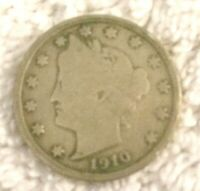 5C NICKEL FIVE CENTS 1910 LIBERTY HEAD V NICKEL 5 FIVE CENTS