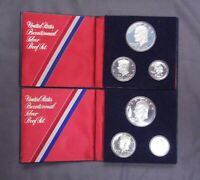 1776 1976 BICENTENNIAL SILVER PROOF 3 COIN SET UNITED STATES