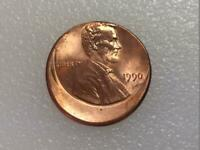1990 LINCOLN CENT 20  OFF CENTER US ERROR COINS NICE COIN
