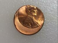 1990 LINCOLN CENT 25  OFF CENTER US ERROR COINS NICE COIN