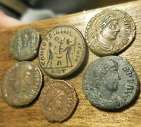 LOT OF 6 VERY FINE TO VF  ANCIENT ROMAN COINS LARGEST 20 MM