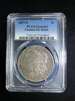 1897-S MORGAN PCGS CLEANED EXTRA FINE  DETAILS TONING