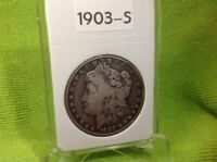 1903-S - MORGAN SILVER DOLLAR - FINE -  - KEY DATE - IN BCW SLAB HOLDER