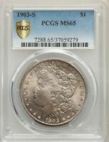 1903-S US MORGAN SILVER DOLLAR $1 - PCGS MINT STATE 65