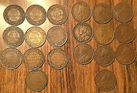 1911 TO 1920 COMPLETE SET OF GEORGE V PENNY   ALL VG F OR BETTER