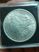 1921-P DOUBLED COTTON BLOSSOMS/EAR VARIETY MORGAN SILVER ONE DOLLAR VAM COIN