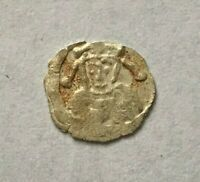 VERY  NORWAY 1/2 PENNING ANONYMOUS CIRCA 1105   1130 AD AR BRAKTEAT   P666
