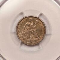 1888 SEATED LIBERTY DIME PCGS MINT STATE 62  TYPE COIN