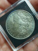 1883-P MORGAN SILVER UNCIRCULATED VAM DOUBLED DATE VARIETY TONING ONE DOLLAR COI