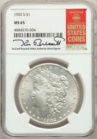 1902-S US MORGAN SILVER DOLLAR $1 - NGC MINT STATE 65