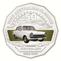 AUSTRALIA 2017 FORD CLASSICS 1965 CORTINA MKI GT500 50C CENTS UNC COIN CARDED
