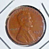 1949-S LINCOLN WHEAT CENT  CIRCULATED FINE DETAIL  GOOD