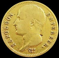 1807 A GOLD FRANCE 20 FRANCS 6.4516 GRAMS NAPOLEON COIN PARI