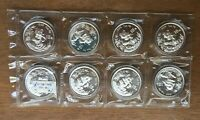 F448 CHINA 1996 SHEET OF 8 X SILVER BU UNC 1OZ 10 YUAN PANDA