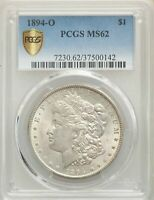 1894-O US MORGAN SILVER DOLLAR $1 - PCGS MINT STATE 62