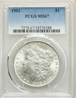 1902 US MORGAN SILVER DOLLAR $1 - PCGS MINT STATE 67