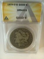 1894-O MORGAN  DOLLAR ANACS GRADED G-6