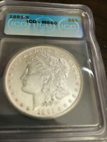 1891-S  DOLLAR  ICG GRADED MINT STATE 60