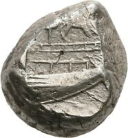 LANZ LYCIA PHASELIS STATER BOAR PROW STERN GALLEY SILVER GRE