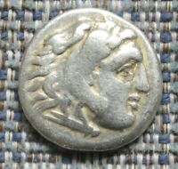 GREEK COIN :  ALEXANDER III  'THE GREAT'  SILVER DRACHM