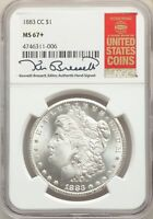 1883-CC US MORGAN SILVER DOLLAR $1 - NGC MINT STATE 67