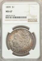 1899 US MORGAN SILVER DOLLAR $1 - NGC MINT STATE 67