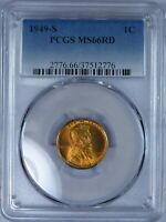 1949-S LINCOLN CENT PCGS MINT STATE 66RD. ET562/CBS