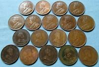 CLEARANCE LOT OF 18 CANADA KING EDWARD VII GEORGE V LARGE CE