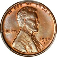 1924-S 1C LINCOLN CENT PCGS MINT STATE 64BN