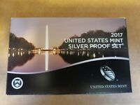 2017 UNITED STATES MINT SILVER PROOF SET 10 COINS