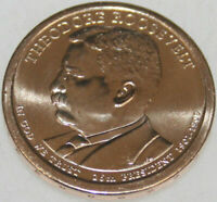 2013-P PRESIDENTIAL DOLLAR UNCIRC THEODORE ROOSEVELT GOLDEN  NO PROBLEM COIN