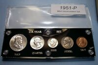 1951 SILVER SET OF U.S. COINS MINT STATE TO BRILLIANT UNCIRC