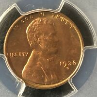 1936-S 1C RD LINCOLN WHEAT ONE CENT  PCGS MINT STATE 65RD                 36089888