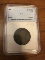 1805 DRAPED BUST SILVER QUARTER 25 CENTS   NMC G   4
