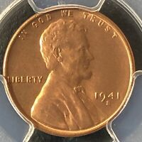 1941-S 1C RD LINCOLN WHEAT ONE CENT  PCGS MINT STATE 65RD            35721132