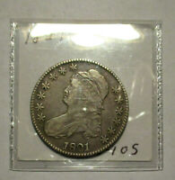 1821 CAPPED BUST HALF VF  XF NICE COIN BETTER DATE