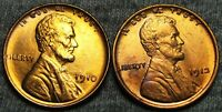 1910 1912 LINCOLN CENT WHEAT CENT LOT  ---- GEM BU DETAILS  ---- T169