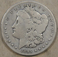 1895-S MORGAN DOLLAR DECENT FULL RIM COIN WITH AN OLD DIP