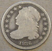 1836 CAPPED BUST DIME G
