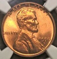 1950-D  LINCOLN CENT  NGC MINT STATE 66RD     SHIPS FREE