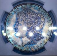 1878 S MINT STATE 62 MORGAN SILVER DOLLAR/ BU/UNC   A HALO OF COLORS  TONING  002