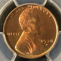 1938-D 1C RD LINCOLN WHEAT ONE CENT  PCGS MINT STATE 65RD    36402829