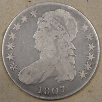 1807 CAPPED BUST HALF LARGE STARS VG O-114