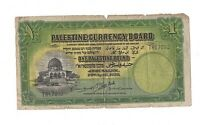 VERY RARE 1 POUND BANKNOTE   PALESTINE CURRENCY BOARD   20/0
