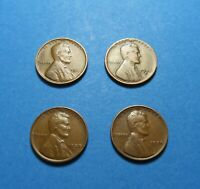 LOT OF 4  1931 1935-D 1938-D 1939 LINCOLN WHEAT CENT SET COMB SHIP LOT 1071