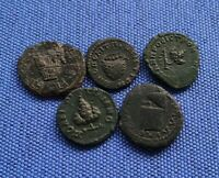 ROMAN PROVINCIAL COINS X5 BUNCHED GRAPES AND MORE. LOW START