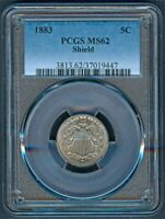 1883 SHIELD NICKEL PCGS MS62