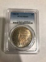 1881-O MORGAN SILVER DOLLAR PCGS MINT STATE 65 TONED