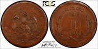 MEXICO-REVOLUTIONARY GUERRERO 1915 10 CENTAVOS PCGS MINT STATE 64 BN TOP GRADED KM 669