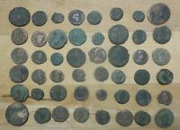 LOT OF 48 DETAILED ANCIENT ROMAN COINS LARGEST IS 24 MM